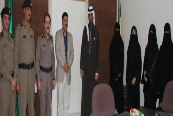 """اللواء عبدا لله الخشمان  يستقبل وفد من """" safe side team """""""