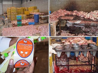 """""""التجارة"""" تكشف عمالة تنتج دجاج فاسد وتزور تاريخ الصلاحية بجدة"""