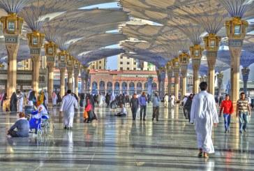 الآلاف من ضيوف الرحمن يتوافدون إلى المدينة