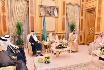 ولي العهد و ولي ولي العهد يستقبلان نائب أمير دولة قطر