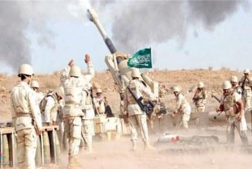 المدفعية السعودية تقصف تجمعات حوثية بالقرب من حرث بجازان