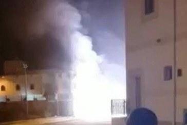 قط يتسبب في انفجار محول كهرباء بشرائع مكة (فيديو)