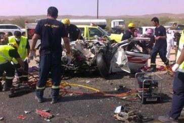 وفاة ثلاثة أشخاص بحادث تصادم على طريق الرياض – خميس مشيط
