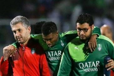 الأهلي يعلن إصابة عثمان بالرباط الصليبي