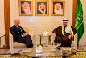 وزير الخارجية يستقبل المبعوث الأممي لسوريا