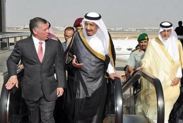 خادم الحرمين يتلقى اتصالاً هاتفيًّا من ملك الأردن
