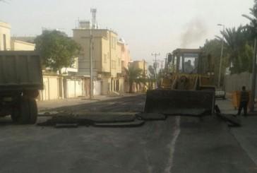 إلزام مقاول بإعادة السفلتة لأحد الشوارع بنجران