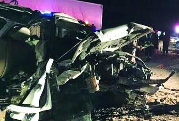 أربع وفيات وست إصابات في حادث على طريق حفر الباطن – الكويت