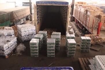 جمرك البطحاء يُحبط محاولة تهريب 3600 زجاجة خمر و 64,800 علبة بيرة بالكحول
