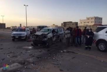 تسعة إصابات نتيجة تصادم وقع بقارا الجوف