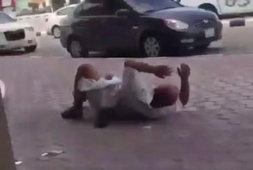 بالفيديو.. إعتداء حارس أمن على مواطن بالدمام يثير استياء المغردين