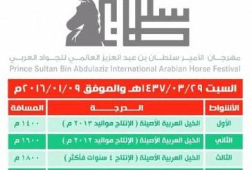 ميدان الجبيل يقيم سباق مهرجان الجواد العربي التأهيلية