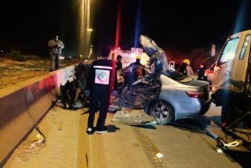 وفاة شخص وإصابة أم وطفلتها في حادث على الدائري الغربي لبريدة