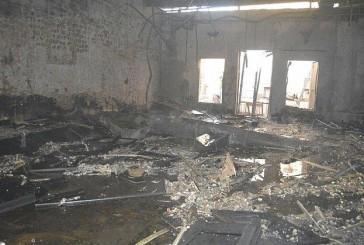 حريق على صالة كبار الشخصيات في قصر أفراح بالمدينة