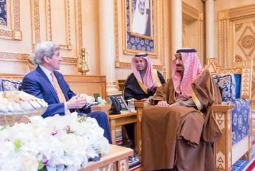 خادم الحرمين الشريفين..يستقبل وزير الخارجية الأمريكي