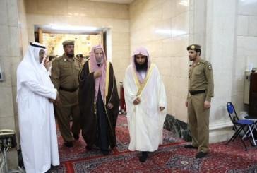 البدير يعود للإمامة في المسجد النبوي