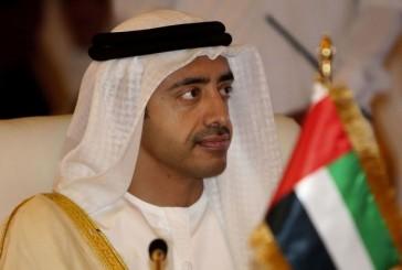 وزير خارجية الإمارات: جرى الاعتداء على سفارة المملكة بطهران بوجود عدد من رجال الأمن