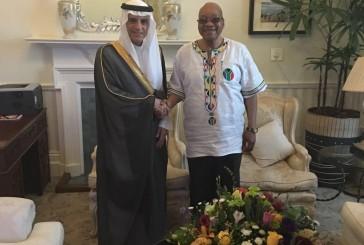 رئيس جمهورية جنوب أفريقيا يستقبل وزير الخارجية