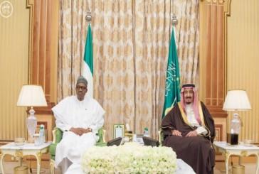 خادم الحرمين يستقبل رئيس جمهورية نيجيريا ويقيم مأدبة غداء تكريماً له