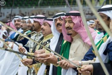 خادم الحرمين يرعى حفل العرضة السعودية ضمن نشاطات مهرجان الجنادرية