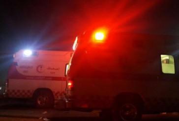 بالصور.. إصابة 3 اشخاص بإصابات متفرقة بحادث انقلاب شرق بريدة