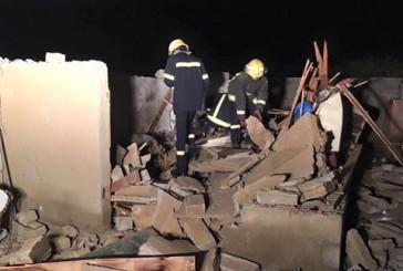 انهيار سقف المطبخ بعد انفجار بسبب تسرب غاز في أبو عريش