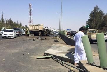 مصرع شخص وإصابة أربعة آخرين في حادث تصادم بالطائف