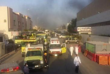 حريق بمستشفى الحمادي بالرياض