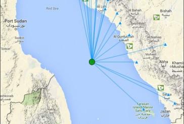 رصد هزتين أرضيتين خفيفتين جنوب غرب محافظة القنفذة