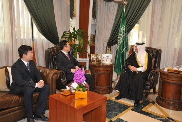 الأمير سعود بن نايف يستقبل السفير الصيني لدى المملكة