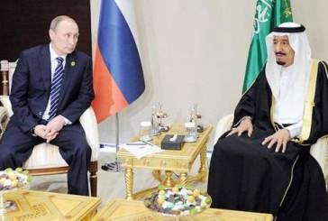 خادم الحرمين يتلقى اتصالاً هاتفياً من بوتين