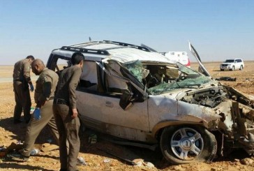 وفاة 4 أشخاص وإصابة 5 آخرين من عائلة واحدة إثر انقلاب سيارة