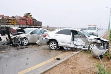 24 حالة وفاة يوميا في 45 ألف حادث مروري خلال شهر واحد