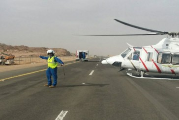 5 إصابات بحادث على طريق القصيم المدينة السريع