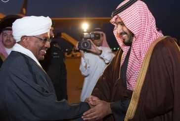 رئيس جمهورية السودان يصل إلى حفر الباطن