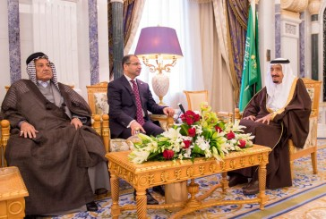 خادم الحرمين يستقبل رئيس البرلمان العراقي