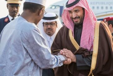 رئيس جمهورية تشاد يصل إلى حفر الباطن