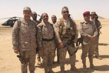 نائب قائد القوات البرية السعودية والفريق الأحمر يزوران مأرب