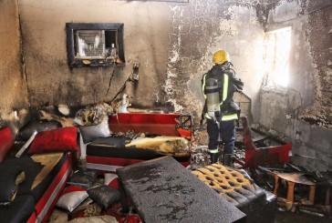 6إصابات باختناقات حريق في أحد غرف منزل سكني بمكة المكرمة