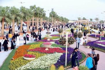 مهرجان الزهور بينبع الصناعية يشهد إقبال كبير خلال العطلة المدرسية