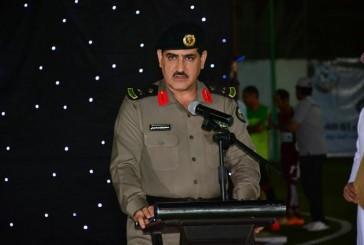 اللواء مسعود العدواني يدشن بطولة الأمن مسؤولية الجميع الرياضية