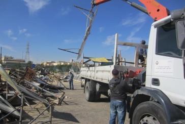 بلدية الظهران تزيل 587 حوش وشبك وخيمة
