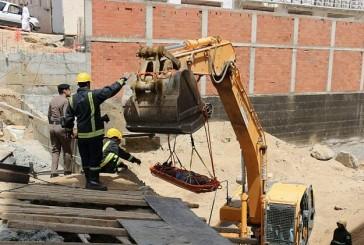 انتشال جثة عامل إثر انهيار تربة حفرية بمكة المكرمة