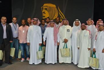 """وفد من جامعة الأمير محمد بن فهد يزور معرض """"الفهد روح القيادة"""""""