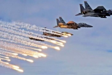 طائرات التحالف العربي تقصف معسكر الصمع في صنعاء