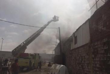 مدني أبو عريش يخمد حريقًا شبَّ في محل تجاري