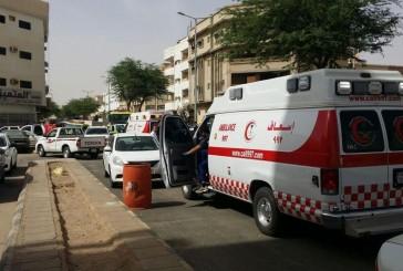  الهلال الأحمر بالقصيم يباشر خمس حالات إختناق بحريق شقة ببريدة