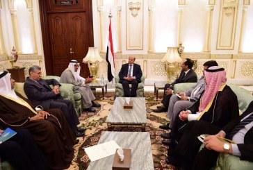 الرئيس اليمني يستقبل اللجنة العربية لحقوق الإنسان ويشدد على كشف جرائم المليشيا الإنقلابية