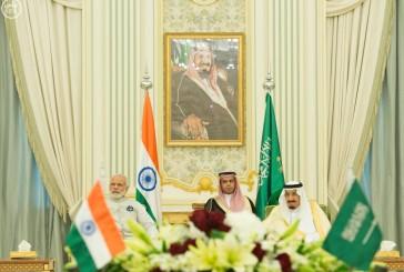 صدور بيان مشترك بمناسبة زيارة رئيس وزراء جمهورية الهند للمملكة