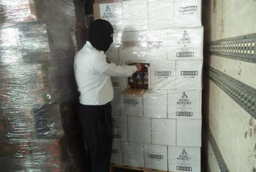 """إحباط تهريب 20 ألف زجاجة خمر وردت لجمرك البطحاء بإرسالية """"عصير"""""""